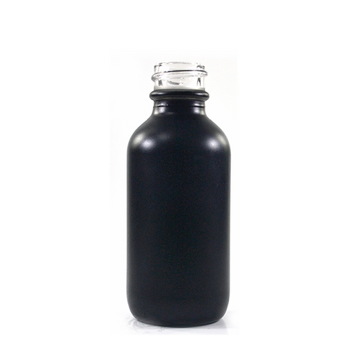 Boston Round Bottle - 60ml Matte Black