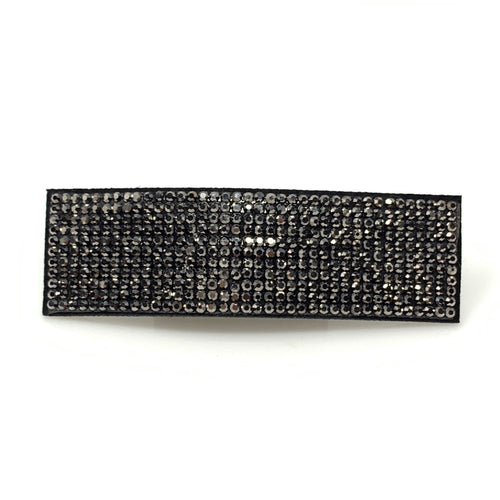 Black Rhinestone Snap Clip, Hair Accessories - www.thestoneflower.com