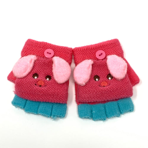 Cute Puppy Flip Top Knitted Mittens, Clothing - www.thestoneflower.com