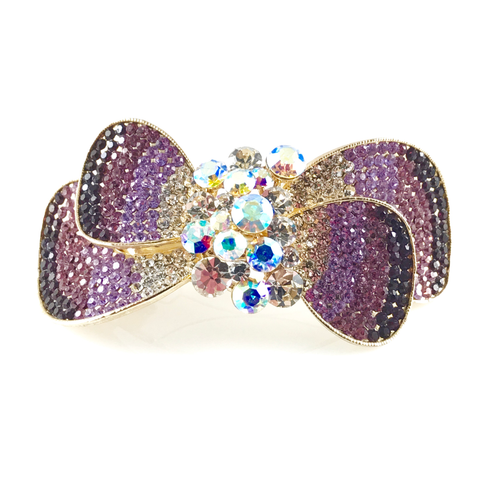 Violet Crystals Hair Barrette, Hair Accessories - www.thestoneflower.com