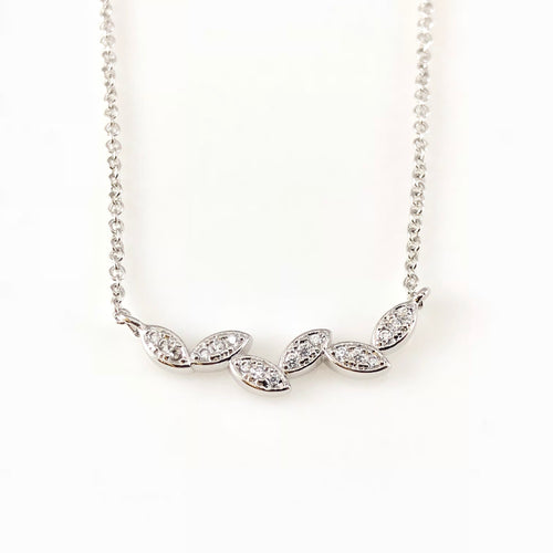 Silver Leaf Charm Necklace, Necklaces - www.thestoneflower.com