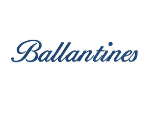 Ballantines Script embroidery font formats bx (compatible with 17 machine file formats), dst, exp, pes, jef and xxx, Sizes 1, 1.5, 2 inches