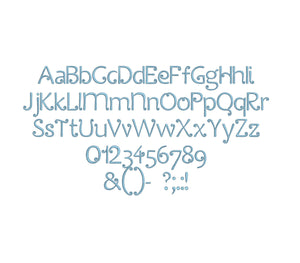 Cirkus embroidery font formats bx, dst, exp, pes, jef and xxx, Sizes 1, 1.5 and 2 inches, instant download