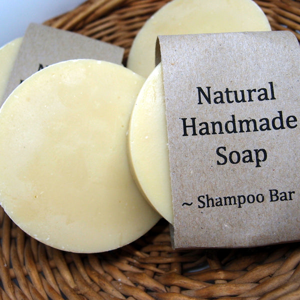 Shampoo Natural Soap Bar - with goat's milk and honey