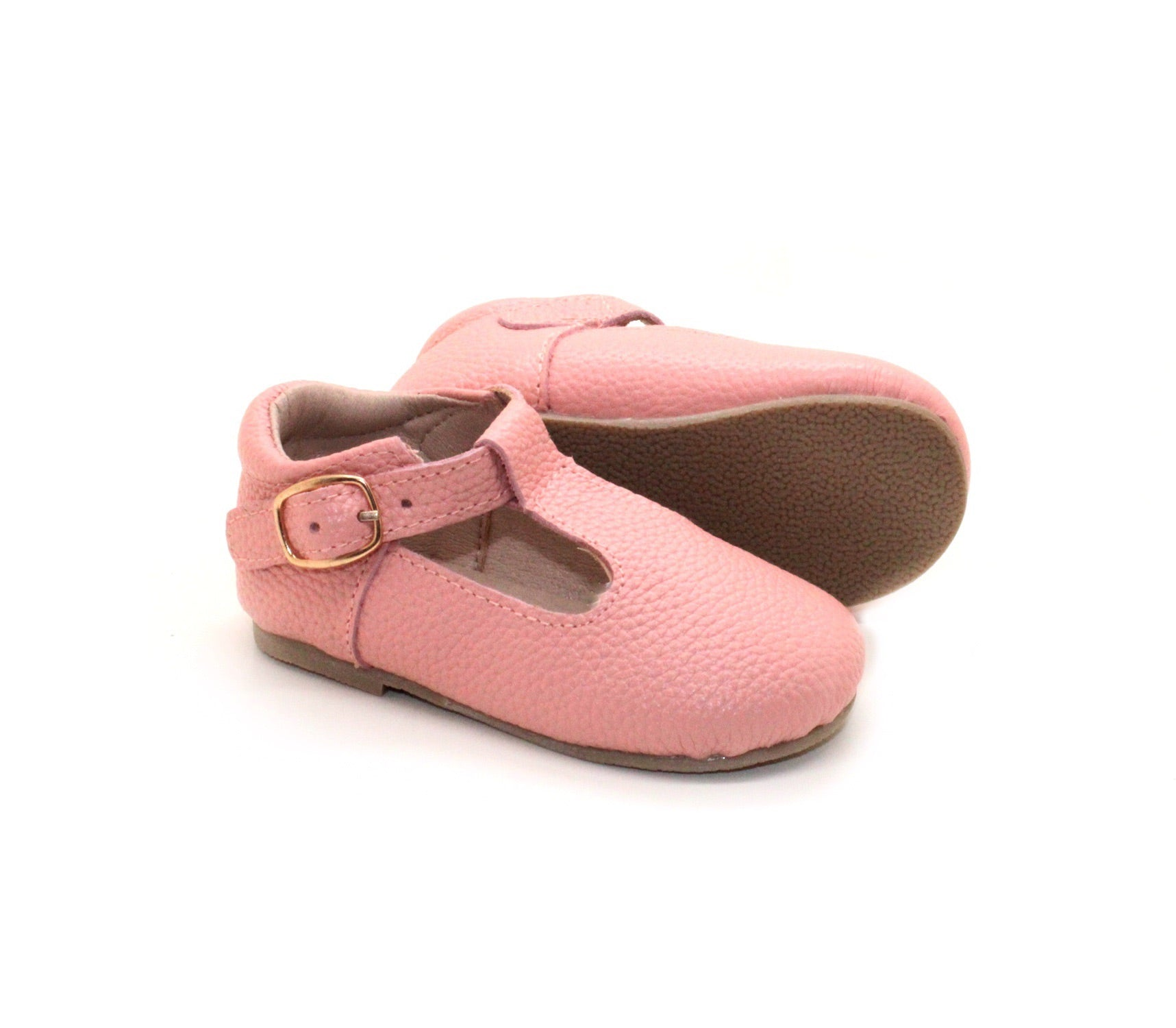 Mary Jane Hard Sole - Peony Pink