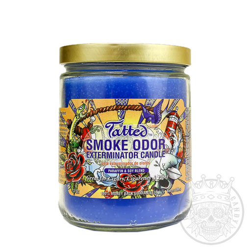 Tatted Candle for Smoke Odors