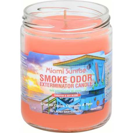 Miami Sunrise Smoke Odor Exterminator Candle 13oz