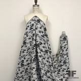 Abstract Textured Brocade - White/Black - Fabrics & Fabrics