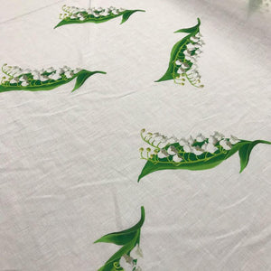 Floral Cotton - White, Green