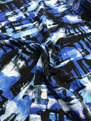 Abstract Cotton - Blue, Black