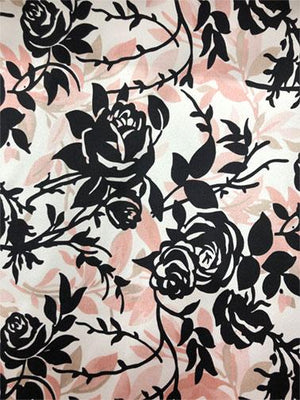 Floral Silk Charmeuse - Pink/ Black/ Ivory