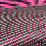 Striped Metallic Lamé - Pink/Black