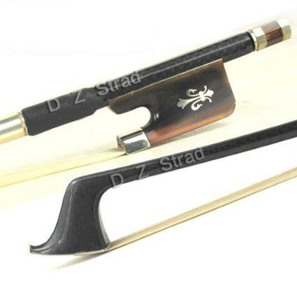 D Z Strad Cello Bow - Model 301 - Carbon Fiber Bow with Ox Horn Fleur-de-Lis Frog