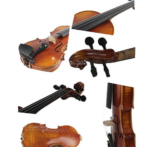 D Z Strad Violin - LC101 - Carved Top with Figured Maple