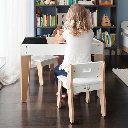 P'kolino Little Modern Table and Chairs - This beautiful little table may just have it all! Versatile and abundant storage, child-driven design features, style and ease of use.