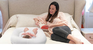 P'kolino Nuzzle Baby Lounger - Best in Class Breathability. Airatex's best-in-class air-flow naturally regulates baby's body temperature to prevent overheating.