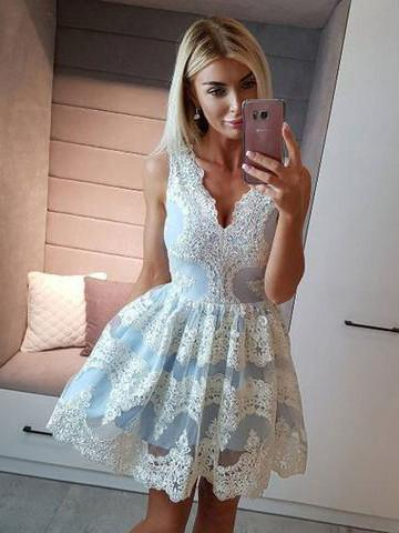 2017 A-line Homecoming Dress Short Party Dress Cocktail Dresses SKY512 - DemiDress.com