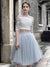 Two Pieces Homecoming Dress Blue Lace Homecoming Dress SKY771
