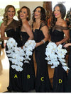 Sheath/Column Off-the-shoulder Floor-length Short Chiffon Bridesmaid Dresses # VB098 - DemiDress.com