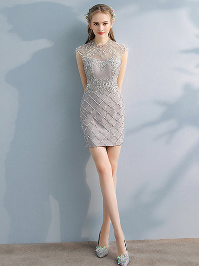 2018 Cheap Homecoming Dress Sheath Scoop Beautiful Homecoming Dress # VB2004 - DemiDress.com