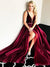 Burgundy Chic Prom Dress Modest Cheap Long Prom Dress #VB2029
