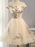 Embroidery Homecoming Dress Off The Shoulder Cheap Homecoming Dress # VB2042