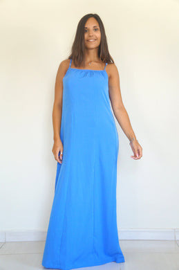 Spaghetti Maxi Dress – Cornflower Blue