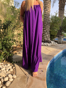 Spaghetti Maxi Dress – Royal Purple