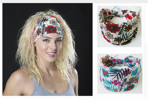 Bohemian Groovey Cotton Headbands, bandanas For Gals and Guys. So popular, join the crowd - Garden Gift Hub