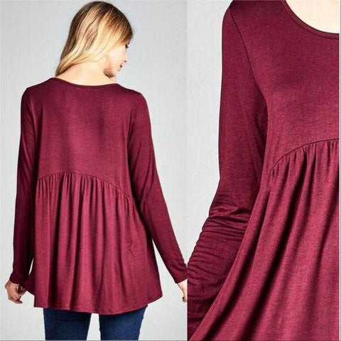 Abby Burgundy Tunic Top | MODA ME COUTURE