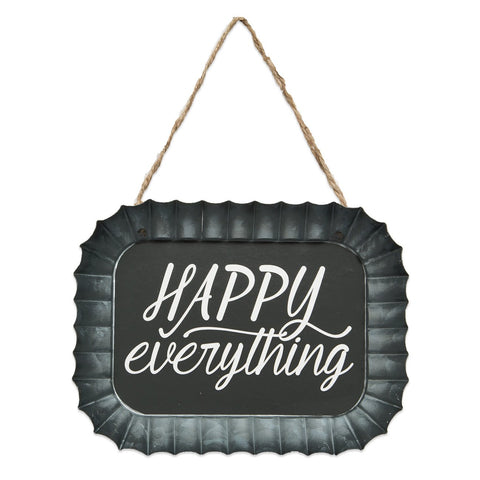 Happy Everything Fluted Tin Sign