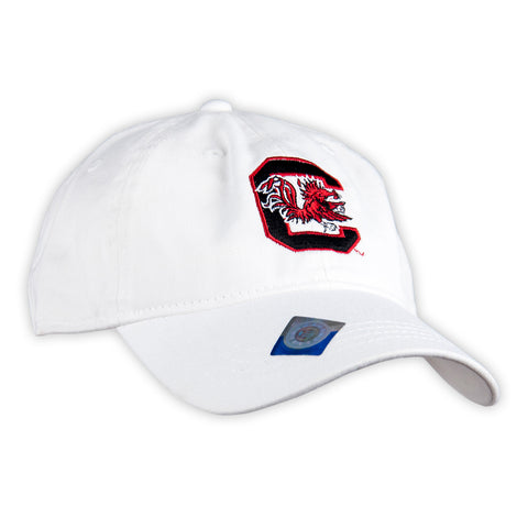Gamecocks Logo White Hat