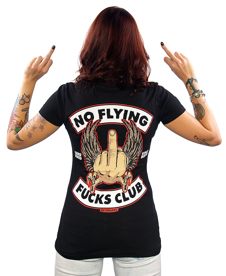 NO FLYING FUCKS V-NECK