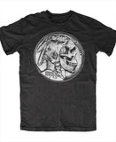 INDIAN NICKEL SKULL T