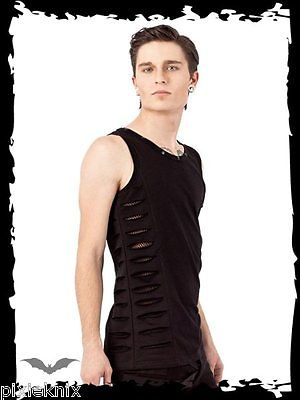 Tank Top with slits & fishnet panel SH21-108/12