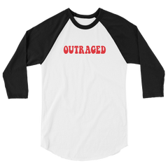 OUTRAGED 3/4 Sleeve Raglan Shirt