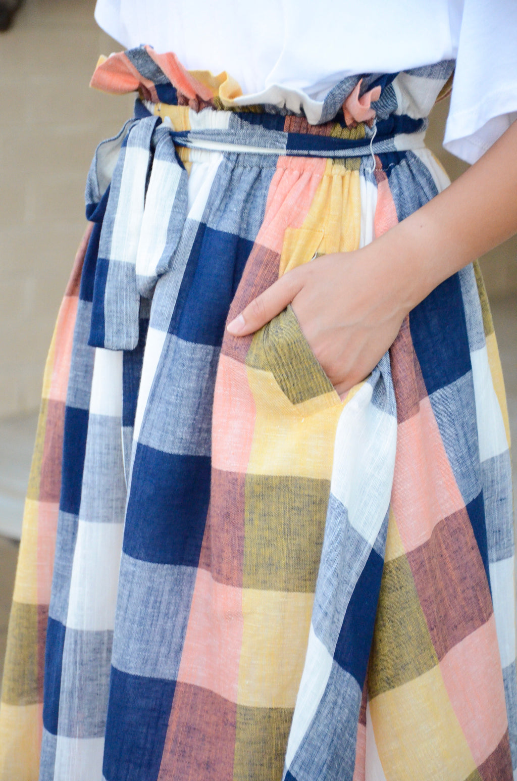 The Golden Summer Plaid Skirt