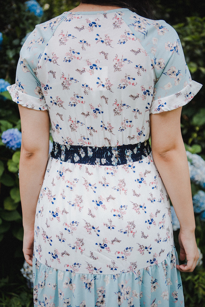 The Cindy Mixed Print Dress