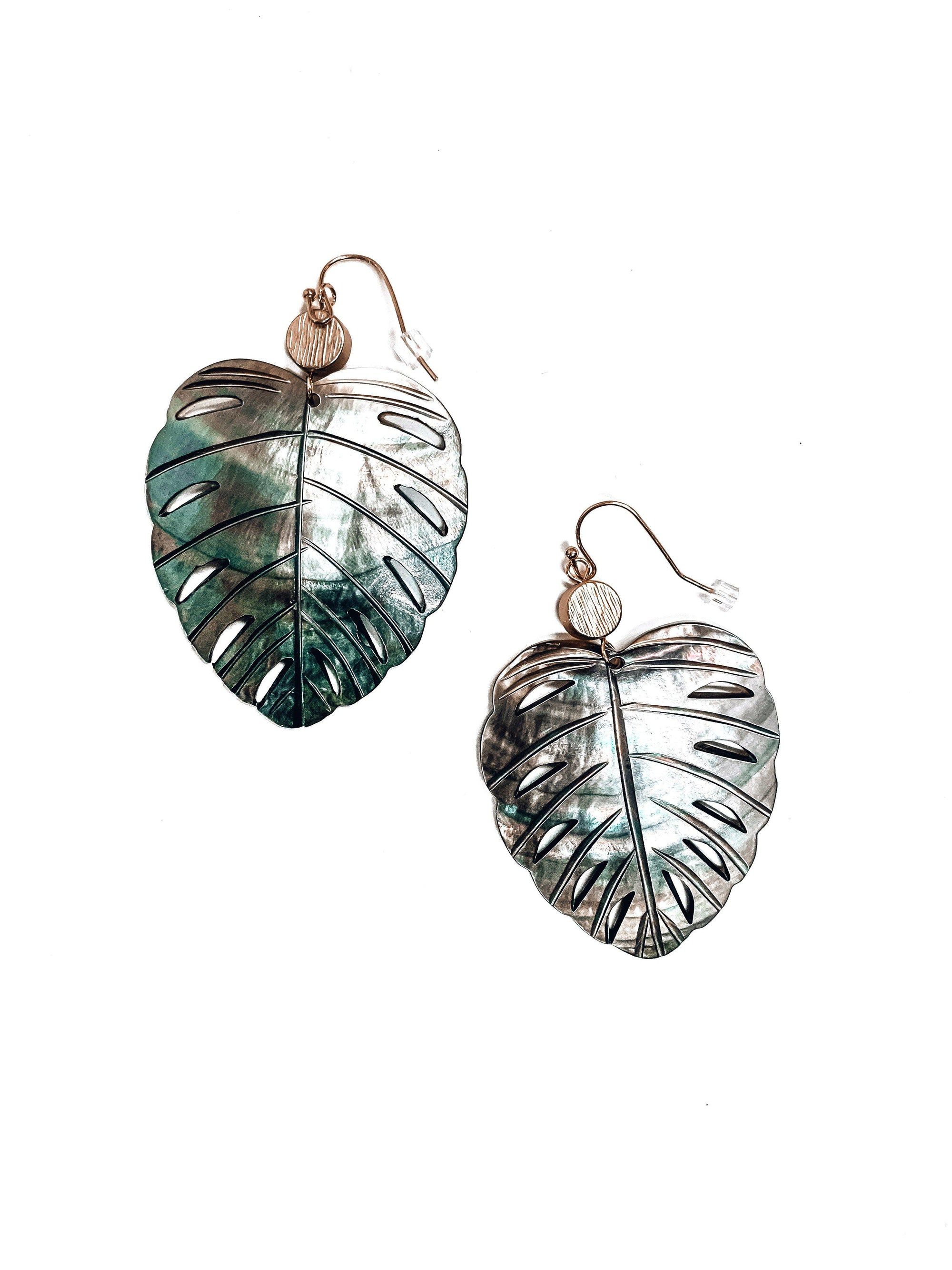 Never Leaf Me Earrings-Women's ACCESSORIES-New Arrivals-Runway Seven