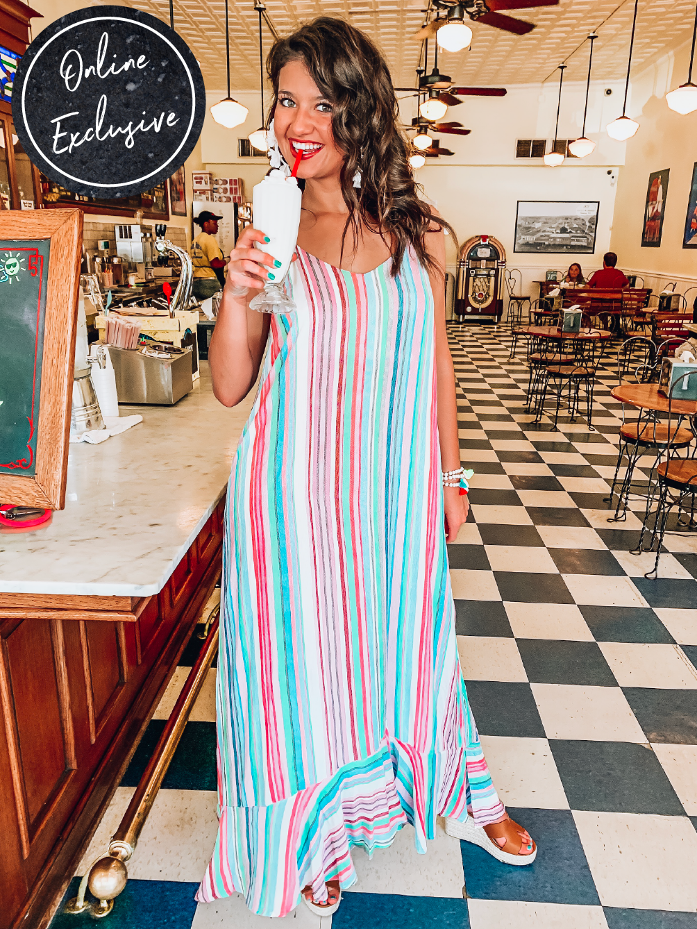 Online Exclusive: Ice Cream Shop Dress-Women's DRESS-New Arrivals-Runway Seven