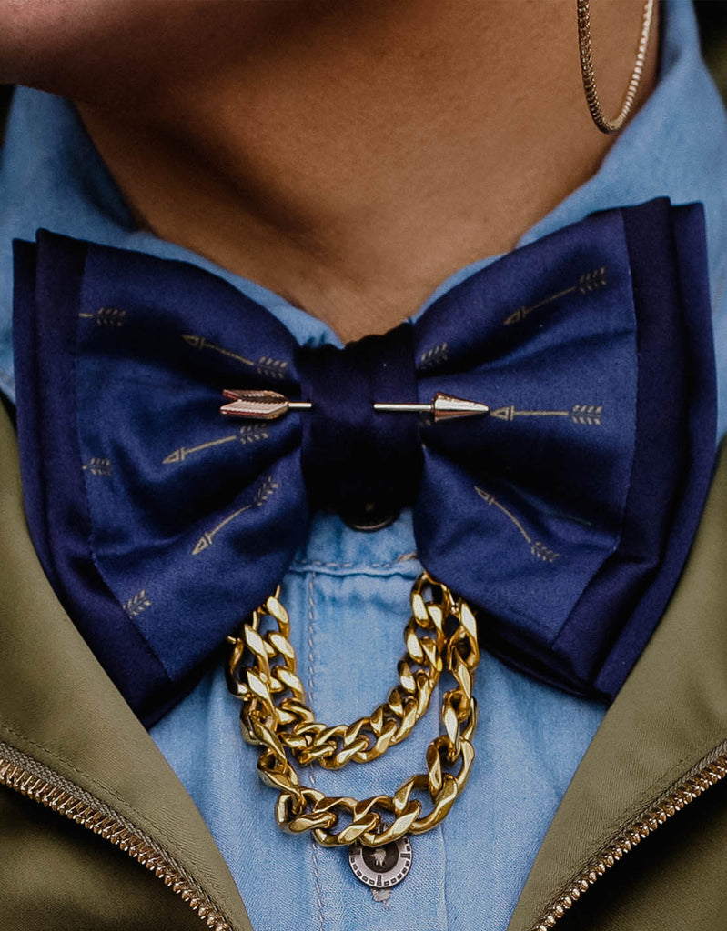 GRAIL X CROSSBOWS Tiered Chain Bowtie