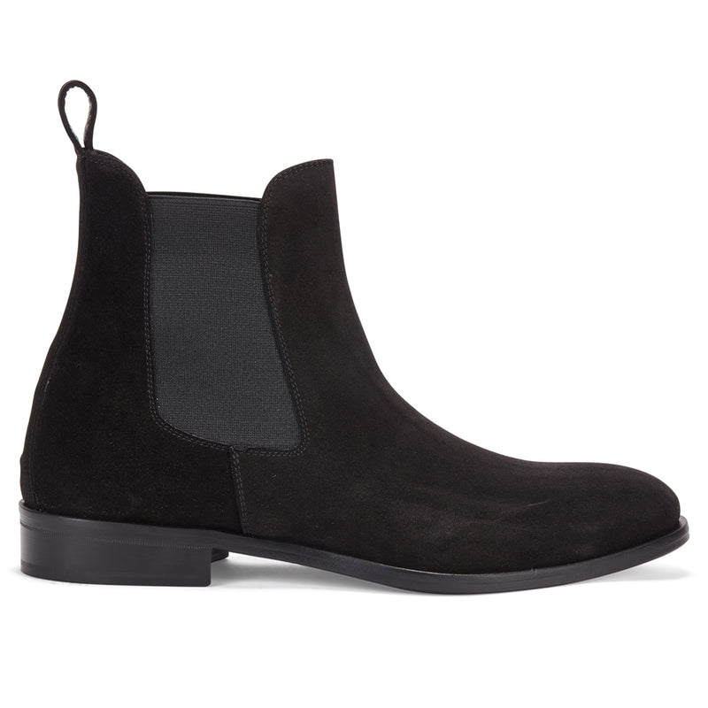 CHELSEA BOOT IN BLACK SUEDE