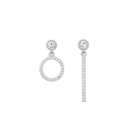 Symphony Ava 18K White-Gold Plated 0.7 Ctw Summer Blossom Stud Earrings