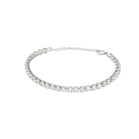 Lafayette 18K White Gold-Plated Link Bracelet 3.08 Ctw