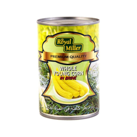 Young Sweet Corn Royal Miller 425G Canned Vegetable
