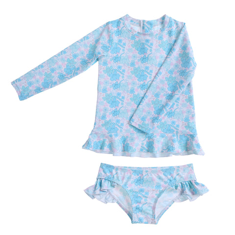 Willow Swim Allegra two-piece girls swimsuit in Spring Floral