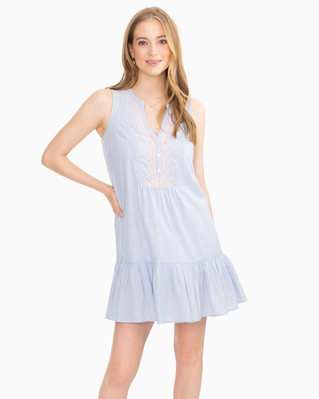 Michelle Embroidered Sleeveless Dress | Southern Tide