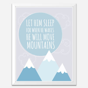 Let Him Sleep - Motivational Wall Art