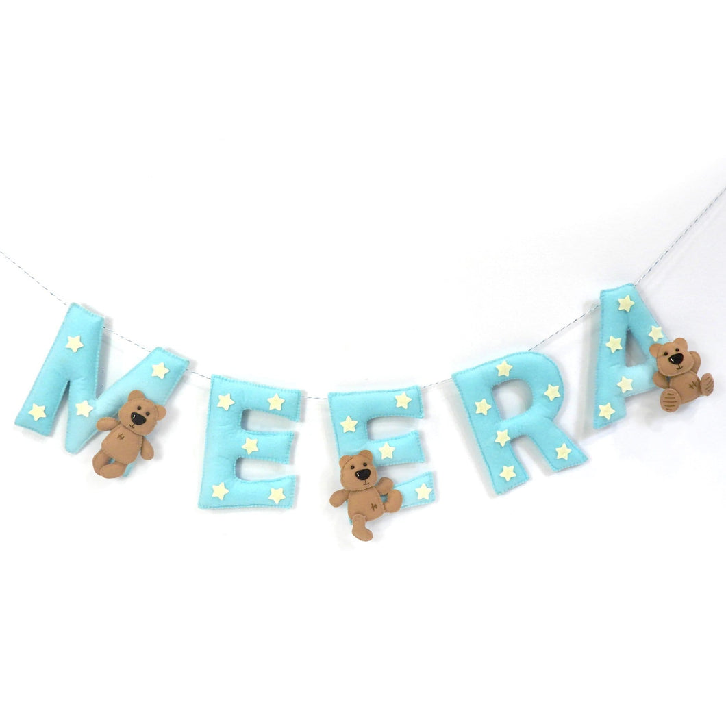 Personalised  Teddy and star Bunting / Garland