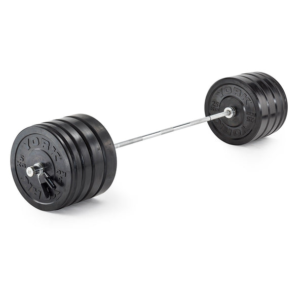 York Barbell 170 KG Olympic Rubber Bumper Plate Training Set